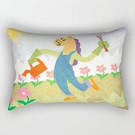 Gardening Unicorn Rectangular Pillow