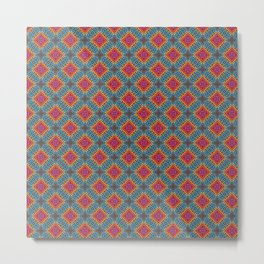 Embroidered Kaleidoscope - Saltire Metal Print