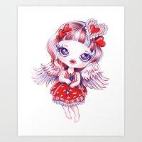 valentina Art Prints featuring Valentina by Sandra Vargas
