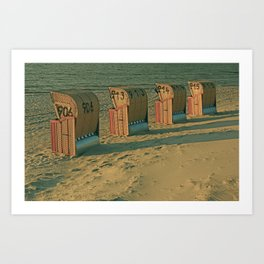 The lonesome four Art Print