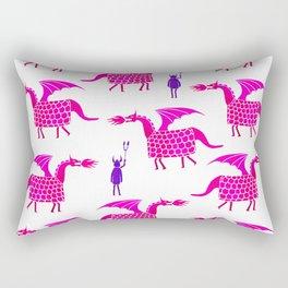 Correfoc dragon and devils * magenta & purple palette Rectangular Pillow
