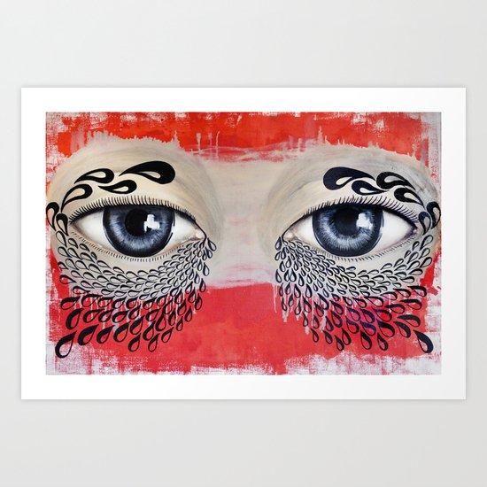 Tears Flow Art Print
