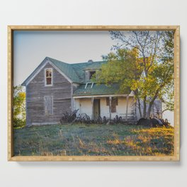 Abandoned Farmstead, North Dakota 5 Serving Tray