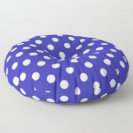Polka Dots (White & Navy Pattern) Floor Pillow