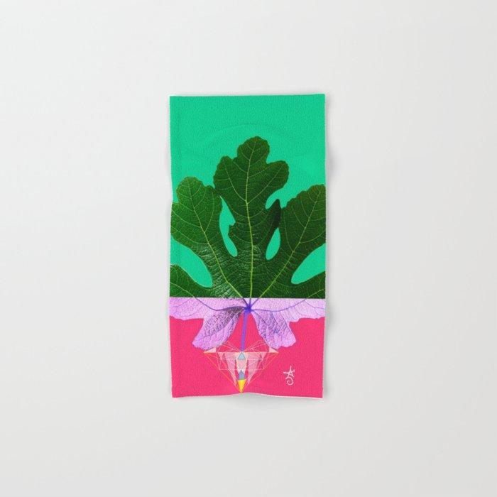Fig Leaf Diamond Christmas - Other Half and Half Hand & Bath Towel