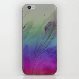 Fluid Nature - Rainbow Smoke - Acrylic Pour Art iPhone Skin