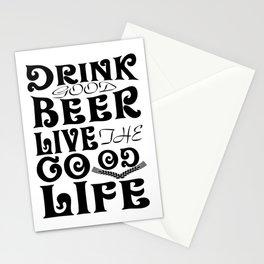 beer live good - I love beer Stationery Cards
