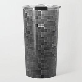 Gray Ombre Pixels Travel Mug