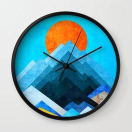 Ocean Peaks Wall Clock