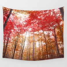 Red and Gold Wall Tapestry