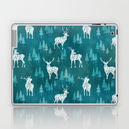 Ice Forest Deer Turquoise Laptop & iPad Skin