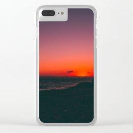 Sunset Beach CA Clear iPhone Case