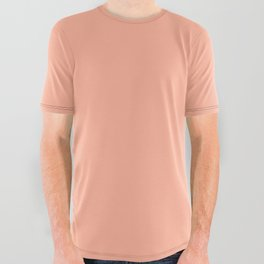 Simply Sweet Peach Coral All Over Graphic Tee