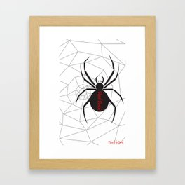 Beware the Red Back Spider from Down Under, not for the faint hearted. Framed Art Print