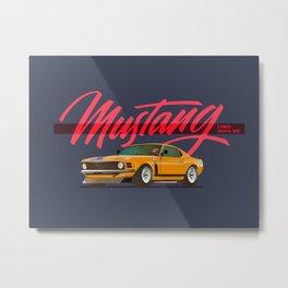 Mustang Boss 302 Metal Print