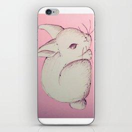 Pen Sketch Pastel Bunny iPhone Skin