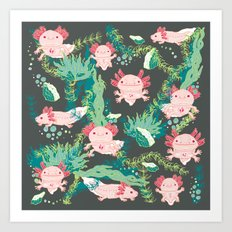 Baby Axolotl Art Print