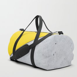 Yellow & Gray Abstract Background Duffle Bag