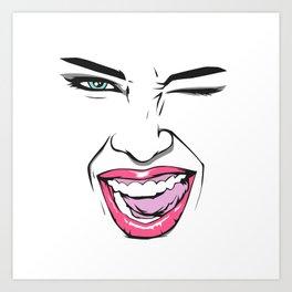 Girl just wanna have fun! Art Print