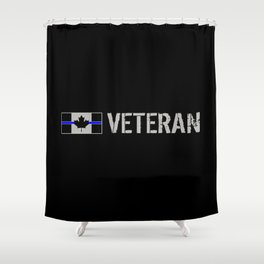 Canadian Police Veteran Shower Curtain