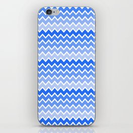 Blue Ombre Chevron iPhone Skin