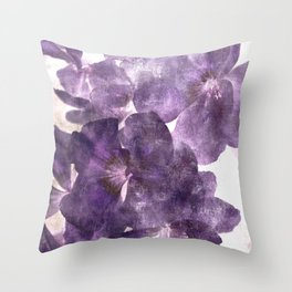 Purple Blossoming Throw Pillow