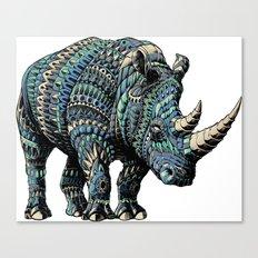 Rhinoceros (Color Version) Canvas Print