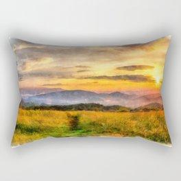 Sunset on the Appalachian Trail, North Carolina Rectangular Pillow