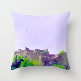 Edinburgh Castle-Edinburgh, Scotland United Kingdom Throw Pillow