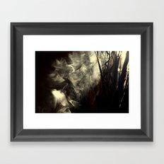Sunlight, shadows and smoke. Framed Art Print