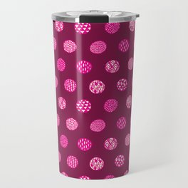 Patterned Dots Travel Mug
