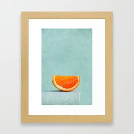 summer in orange II Framed Art Print