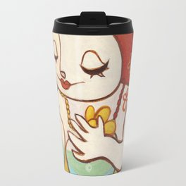 A HAPPY WOMAN Travel Mug