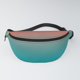 Pantone Living Coral & Viridian Green Gradient Ombre Blend Fanny Pack