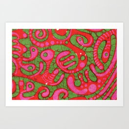 Doublewide Goove Batik Art Print