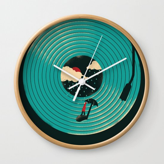 Songs for a Rainy Day Wall Clock