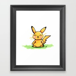 Cute Pika Framed Art Print