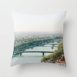Sunrise over Lyon Throw Pillow