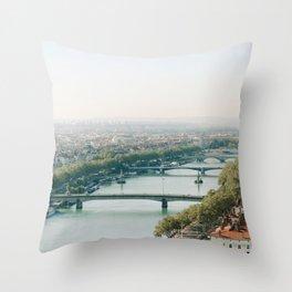 Sunrise over Lyon Throw Pillow