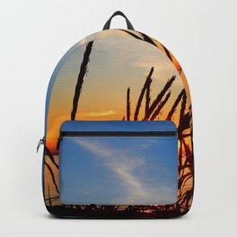 Sunset Through the Beach Grass Backpack