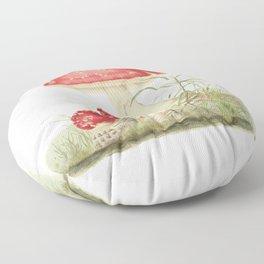 Agaricus Muscarius Floor Pillow