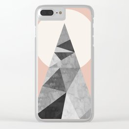 Polygon geometry XIII Clear iPhone Case
