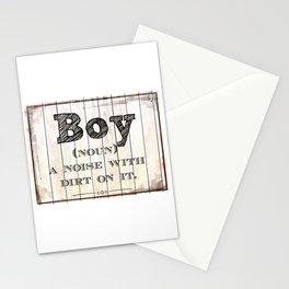 Boy definition sign Stationery Cards