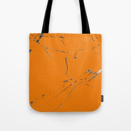bold orange marble texture Tote Bag
