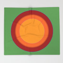 That 70s Sun spot - Soothing Green Throw Blanket