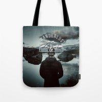 wanderlust Tote Bags featuring Wanderlust by UtArt