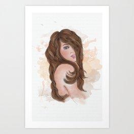 Bonny Lass Art Print