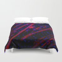 muscle Duvet Covers featuring Microscopic Muscle Cells by Sumii Haleem