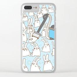 Dust bunnies Clear iPhone Case
