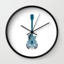 Under The Ocean Guitar Wall Clock